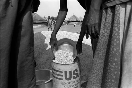 Potravinová pomoc v Jubě v jižním Súdánu. Ilustrační foto